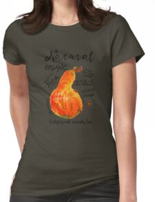 Watercolor pumpkin Womens Fitted T-Shirt