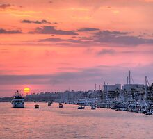 Sunset Harbor Cruise by Eddie Yerkish