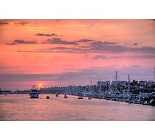Sunset Harbor Cruise Photographic Print