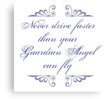 Guardian Angel Humor Canvas Print