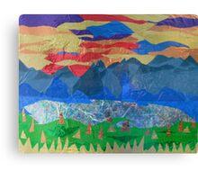 Golden Forested Landscape Canvas Print