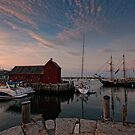 Sunset in the harbor by Marzena Grabczynska Lorenc