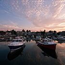 just another sunset over the harbor by Marzena Grabczynska Lorenc