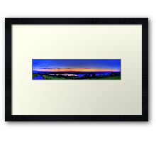 Twilight from Mt Zug - HDR Panorama Framed Print