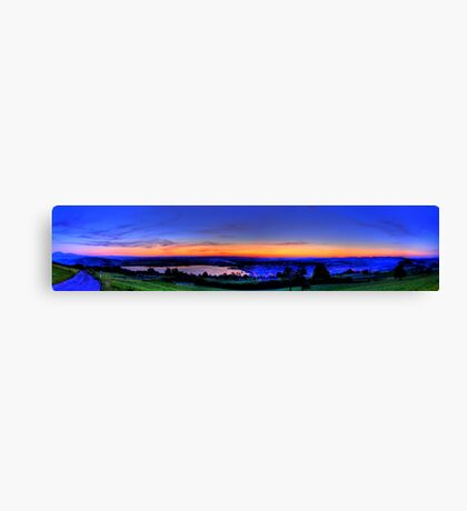 Twilight from Mt Zug - HDR Panorama Canvas Print