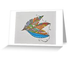 Feathers Greeting Card