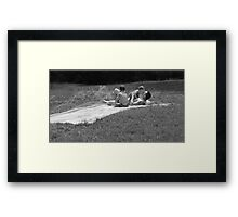Life Lesson #4: Submerse Yourself into Every Moment and You will be Born Again with a Cleansed Heart. Framed Print