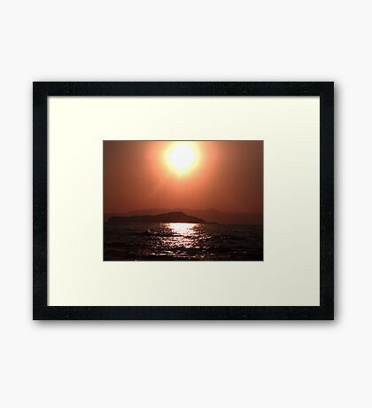 Greek Sunset - Crete Framed Print