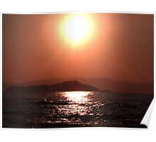 Greek Sunset - Crete Poster