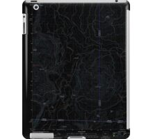 USGS Topo Map Oregon Parker Mountain 20110812 TM Inverted iPad Case/Skin