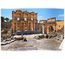 Celsus Library and Gate of Augustus Poster Edge effect Poster