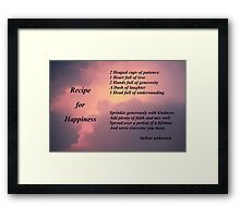 Recipe for Happiness Framed Print