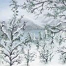 Interpretation of Cook Peak in Watercolors by maxy