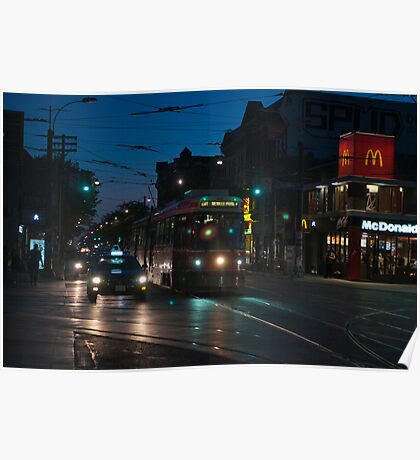 Streetcar at Queen & Spadina Poster