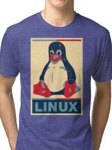 Linux Tux Tri-blend T-Shirt