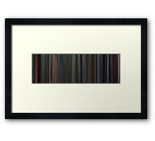Moviebarcode: Predator (1987) Framed Print