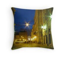 Lvov at night Throw Pillow