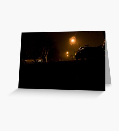 The Neighborhood at Night Greeting Card