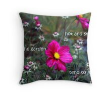 Hot and Steamy Throw Pillow