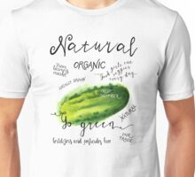 Watercolor cucumber Unisex T-Shirt
