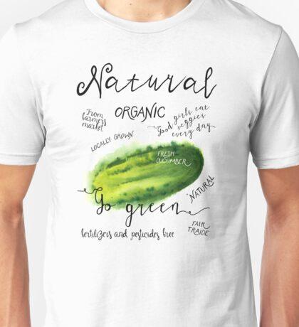 Watercolor cucumber Unisex T-Shirt