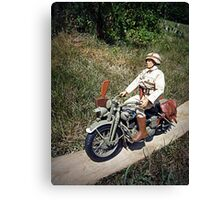 ~Motorcycle Joe~ Canvas Print