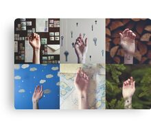 Hands Collage Canvas Print