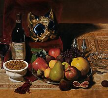 Still Life With Venetian Mask by Karen Yee