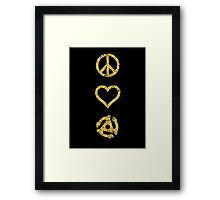 Peace. Love. Vinyl. Framed Print