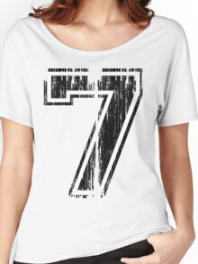 Bold Distressed Sports Number 7 Women's Relaxed Fit T-Shirt