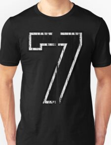 Bold Distressed Sports Number 7 T-Shirt