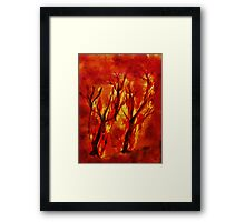 Fire!! Natural Disasters, for Series, Watercolor Framed Print