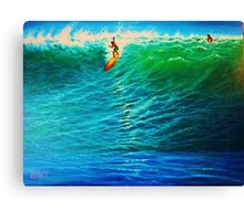 Dropping In at the Pipe Canvas Print