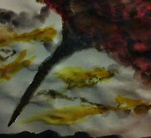 Funnel Cloud!!  Natural Disaster Series, watercolor by Anna  Lewis, blind artist