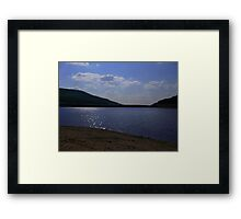 Sun shine, by the lake Framed Print