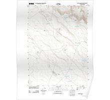 USGS Topo Map Oregon Weed Lake Butte 20110829 TM Poster