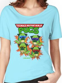Teenage Mutant Ninja Pugs Women's Relaxed Fit T-Shirt