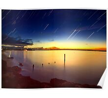 Star Trails over Cowes Poster