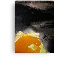 sun dance....under moving black cloud  Canvas Print