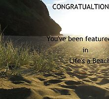 Banner Challenge for Life's a Beach ~ at Piha Beach by chrissy mitchell
