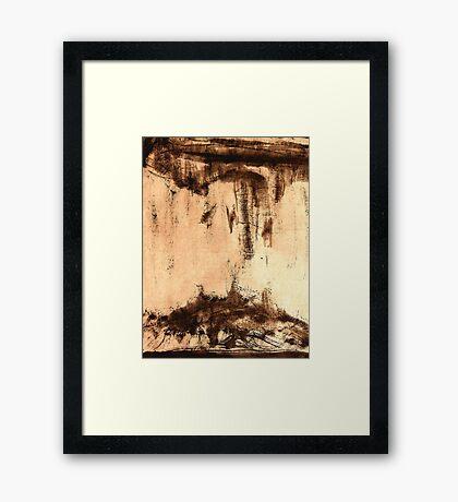 sand dune .... cloud burst #4 Framed Print