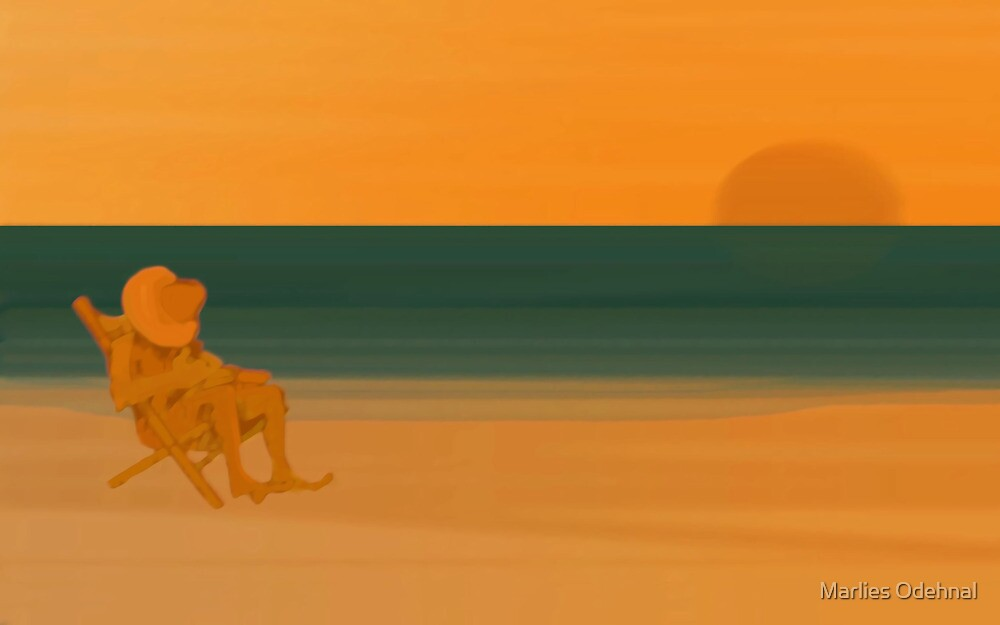 Sunset - day 31 by Marlies Odehnal