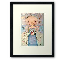 Mary's Little Lamb Framed Print