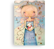 Mary's Little Lamb Canvas Print