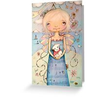 Mary's Little Lamb Greeting Card