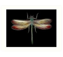 Medicine Wheel Totem Animals by Liane Pinel- Dragonfly Art Print