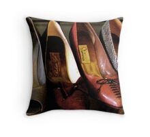 """Vintage Steps Out in Style"" Throw Pillow"