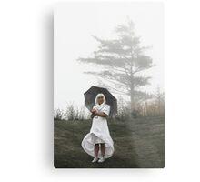 new age nun in fog Metal Print