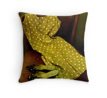 Vintage Fashion Statement Throw Pillow