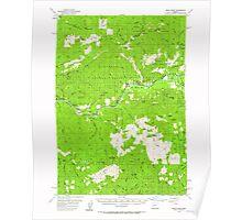 USGS Topo Map Oregon Blue River 282260 1955 62500 Poster
